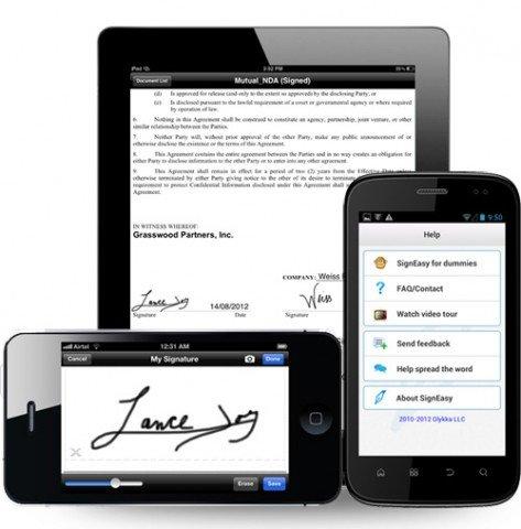 signeasy app para smartphone
