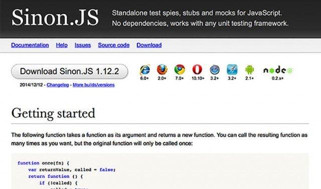 sinonjs framework javascript