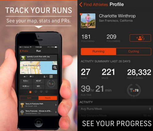 strava aplicacion running iphone