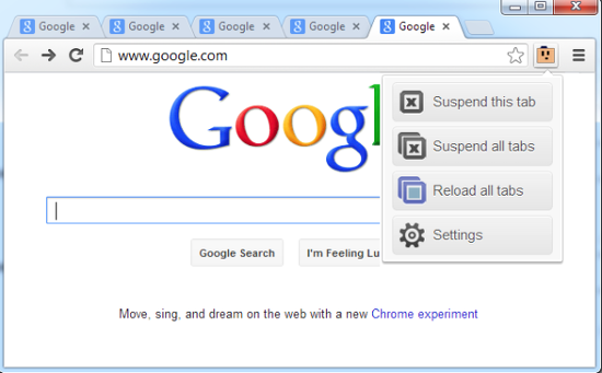 the great suspender para google chrome