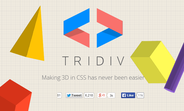 tridiv sitio web
