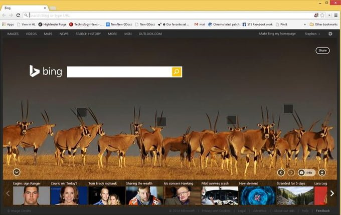 usar bing en chrome