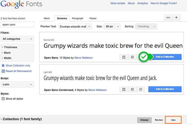 usar fuentes google fonts