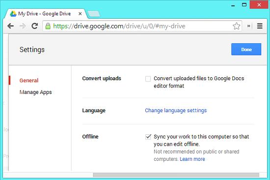 usar google docs sin conexion a internet