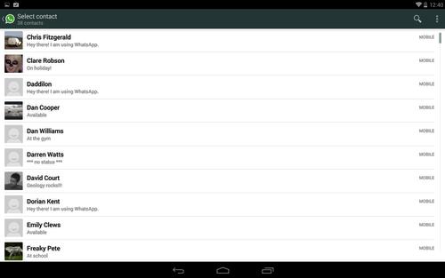 usar whatsapp en tablet