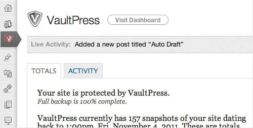 vaultpress plugin wordpress