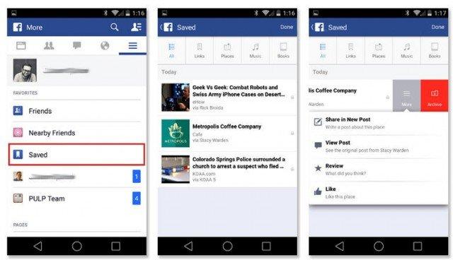 ver contenido almacenado desde el celular en facebook