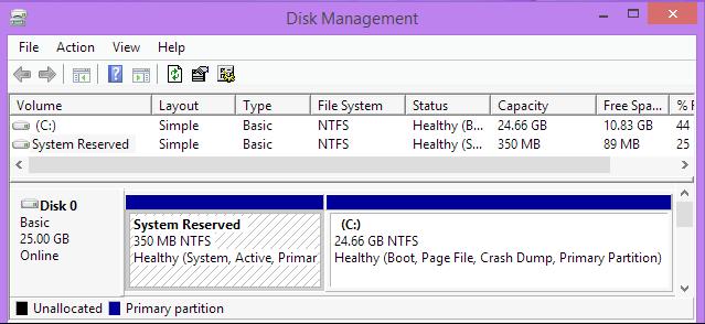 ver particion reservada para el sistema windows