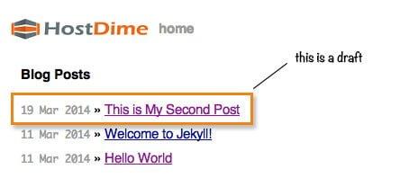 visualizacion borradores jekyll
