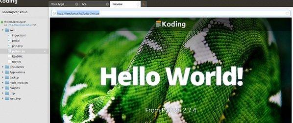 visualizar codigo programacion plataforma cloud