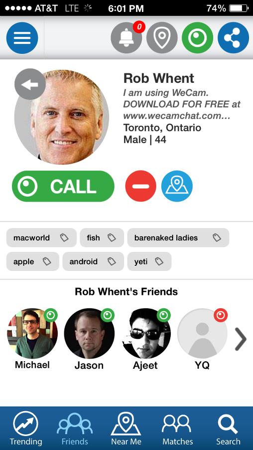 wecam chat llamada