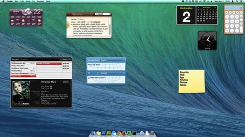 widgets escritorio mac os x